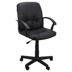 Кресло руководителя Чип 365 кожзам черный (ультра)