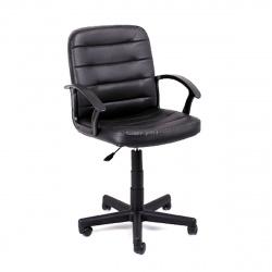 Кресло руководителя Чип 192 кожзам черный (ультра)