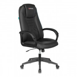 Кресло игровое Viking-8N/Black кожзам черный