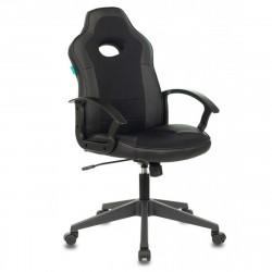 Кресло игровое Viking-11, ткань черная, кожзам черный