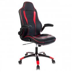 Кресло игровое Viking-2/Bl+Red кожзам черно-красный