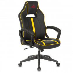 Кресло игровое Viking Zombie A3 Yel кожзам черно-желтый