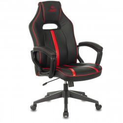 Кресло игровое Viking Zombie A3 Red кожзам черно-красный
