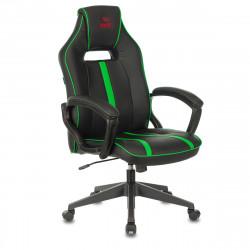 Кресло игровое Viking Zombie A3 GN кожзам черно-зеленый