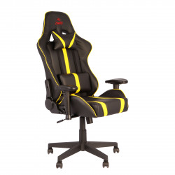 Кресло игровое Viking Zombie A4 Yel кожзам черно-желтый