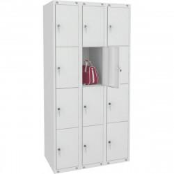 Шкаф для одежды ШМ-312, 12 секций, 1850*900*500 мм