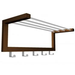 Вешалка настенная Дольче 670*250*230мм металлик/темно-коричневая