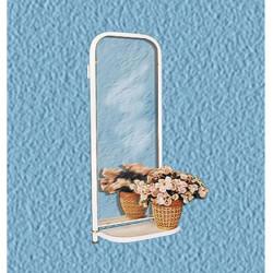 Зеркало настенное с полочкой белое 420*220*1085