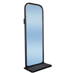 Зеркало настенное с полочкой  черное 420*220*1085