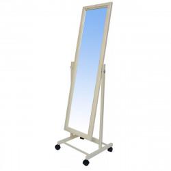 Зеркало напольное В27Н, массив/слоновая кость 35*45*138 (зеркало 26*112см)