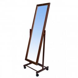 Зеркало напольное В27Н, массив/коричневый 35*45*138 (зеркало 26*112см)