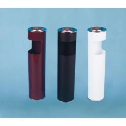 Урна К150Н, для бумаг с пепельницей, D-150, Н-602, объем 10 литров, белый
