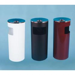 Урна К250Н, для бумаг с пепельницей, D-250, Н-602, объем 30 литров, белый