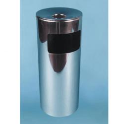 Урна К250НН, для бумаг с пепельницей, D-250, Н-602, объем 30 литров, нержавеющая сталь
