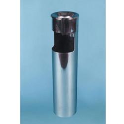 Урна К150НН, для бумаг с пепельницей, D-150, Н-602, объем 10 литров, нержавеющая сталь
