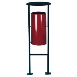 Урна УК1, уличная переворачиваемая, D-404, Н-1175, объем 28 литров, бордовый