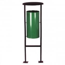 Урна УК1, уличная переворачиваемая, D-404, Н-1175, объем 28 литров, зеленый