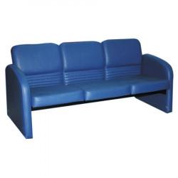 Диван 3-х местный Махаон PV-9, кожзам синий, 1650*670*760 мм
