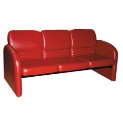 Диван 3-х местный Махаон Орегон Перламутр-111, кожзам красный, 1650*670*760 мм