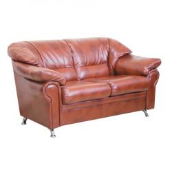 Диван 2-х местный Нега Орегон Антик-40, кожзам коричневый, 1650*950*840 мм