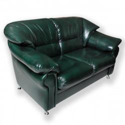 Диван 2-х местный Нега Орегон Антик-41, кожзам зеленый, 1650*950*840 мм