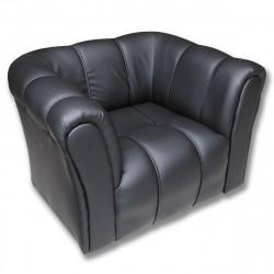 Кресло Модуль Орегон-16, кожзам черный, 2 подлокотника, 1060*850*710 мм