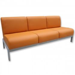 Диван 3-х местный Сандра SL Орегон-20, кожзам оранжевый, 1920*700*770 мм