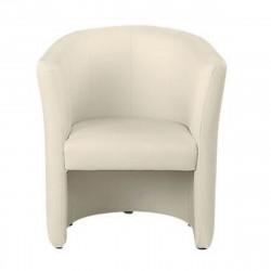 Кресло Club V-18, кожзам топленое молоко, 708*658*814 мм