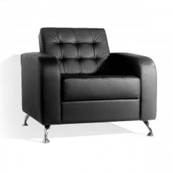 Кресло Рольф Euroline-9100, кожзам черный, 1 категория, 890*850*840 мм