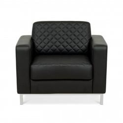 Кресло Бентли Ben1-2-hr Satorini-401, кожзам черный, 1 категория, 955*870*820 мм