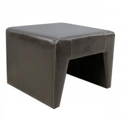 Пуф-столик Kit-T Attika-155, кожзам коричневый, 1 категория, глянец, столик, строчка беж, 570*570*450 мм